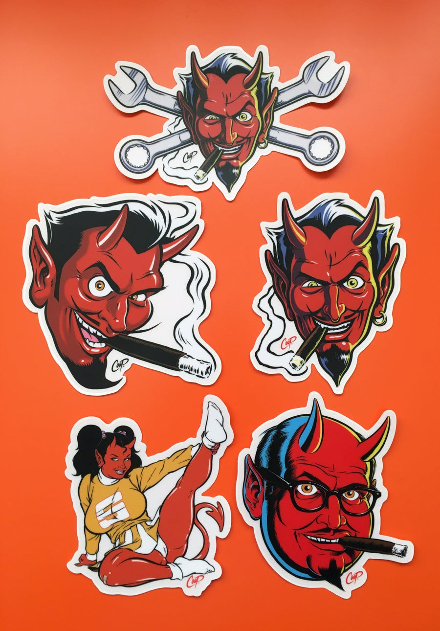 "Image of COOP Sticker Pack #1 ""Devils & Devil Girl"""