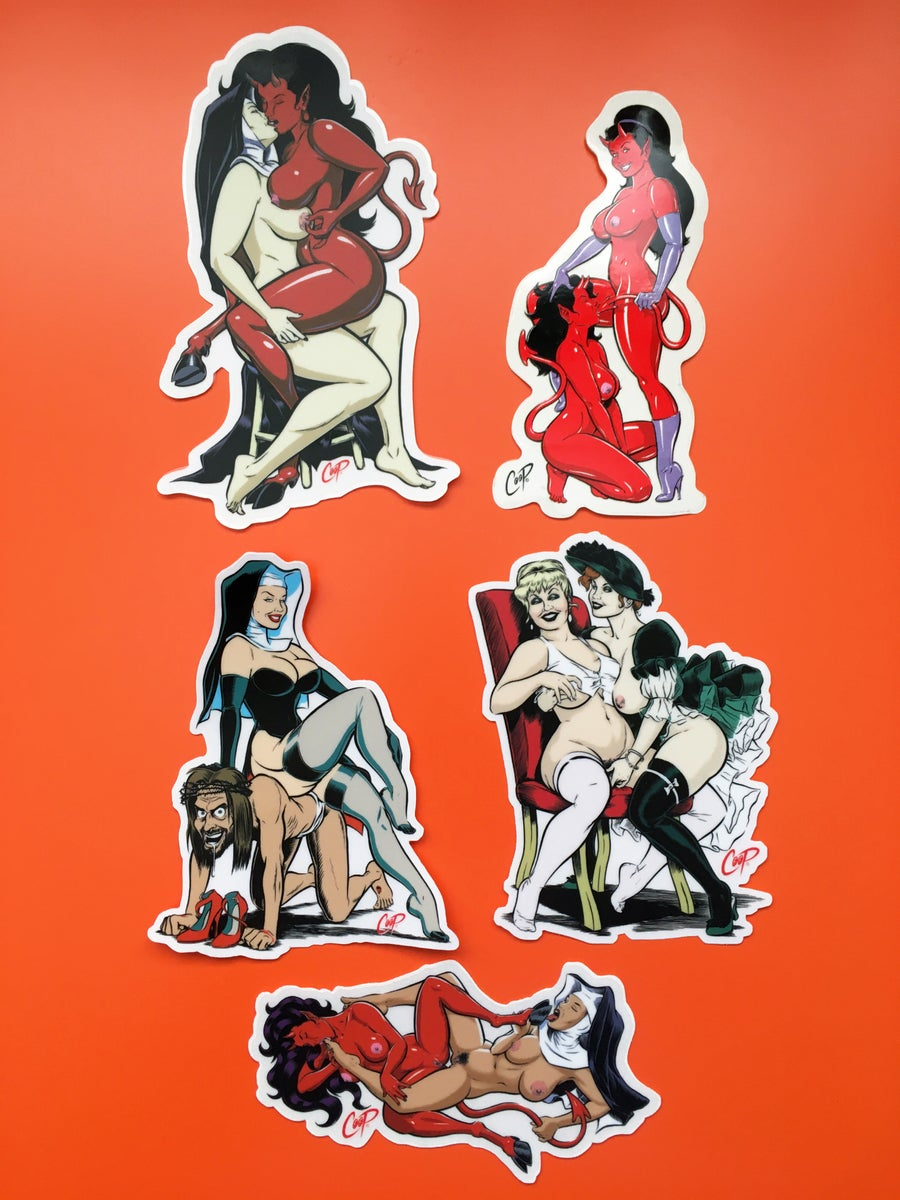 "Image of COOP Sticker Pack #5 ""Naughty Girls"""