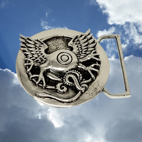 Image of Flying Eye Buckle Cast in White Brass