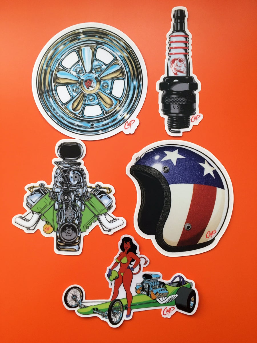"Image of COOP Sticker Pack #6 ""Gearheads"""