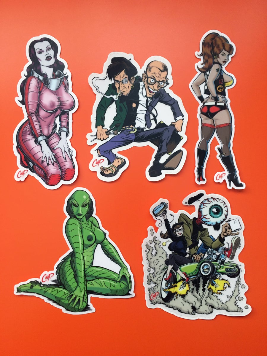 "Image of COOP Sticker Pack #7 ""B-Movies & Beatniks"""