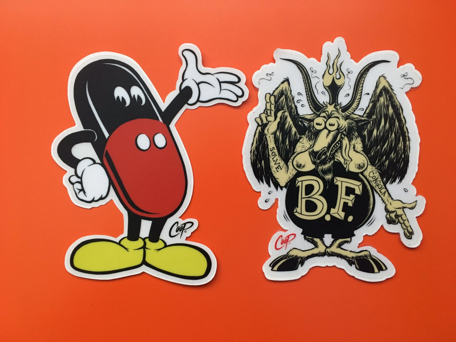 """Image of COOP Sticker Pack #8 """"Scary Monsters & Super Creeps"""""""