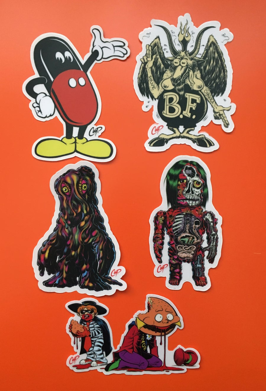 "Image of COOP Sticker Pack #8 ""Scary Monsters & Super Creeps"""