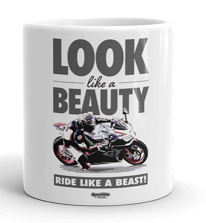 Image of Beauty Beast - White Mug. 11oz.