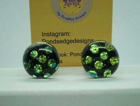Image of Green Dichroic Glass Cufflinks