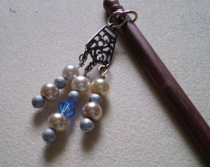 Image of Beaded Rosewood Hair Sticks