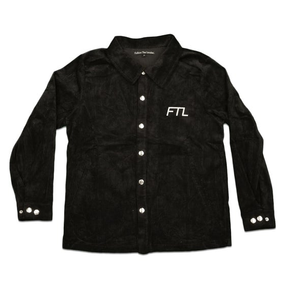 Image of FTL Corduroy Overshirt (Black)