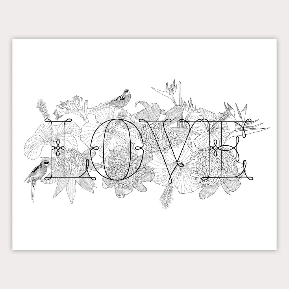 Image of CHARITY PRINT — LOVE
