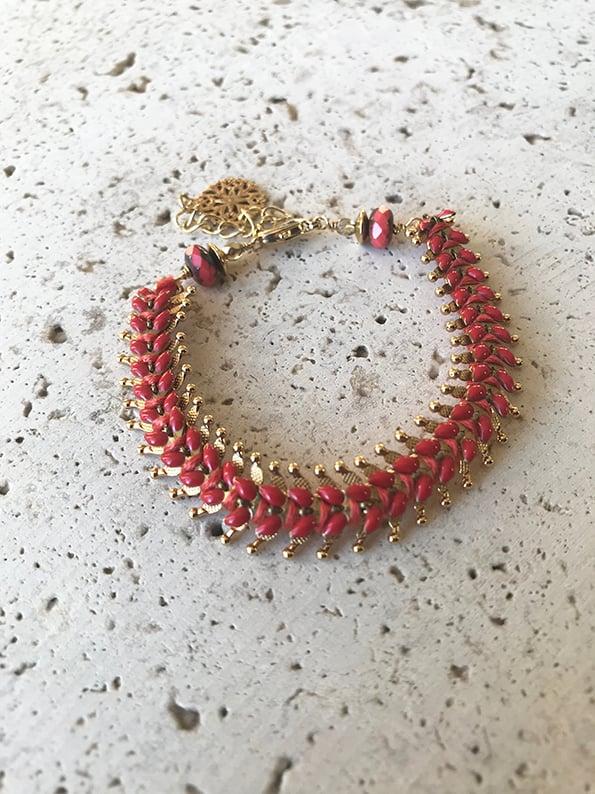 Image of bracelet tissé INDIA Rouille -50%