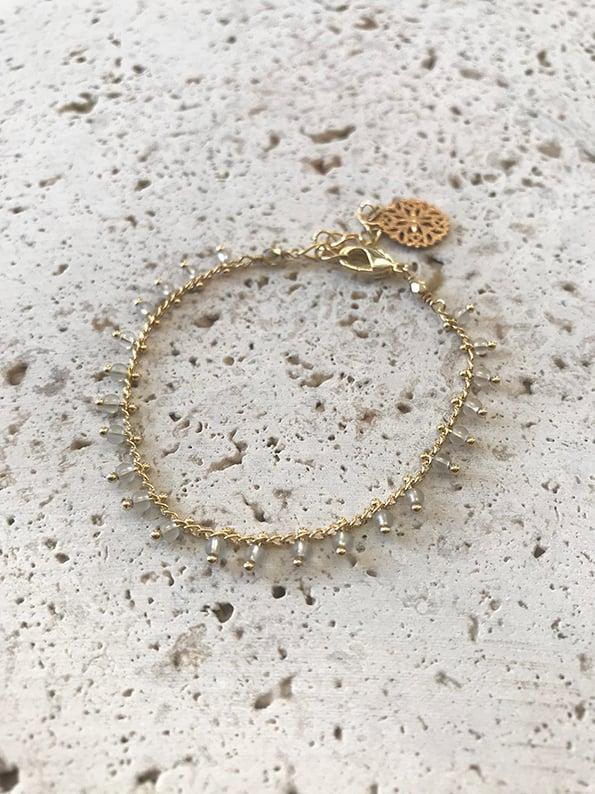 Image of Bracelet chaîne JAIPUR Gris -50%
