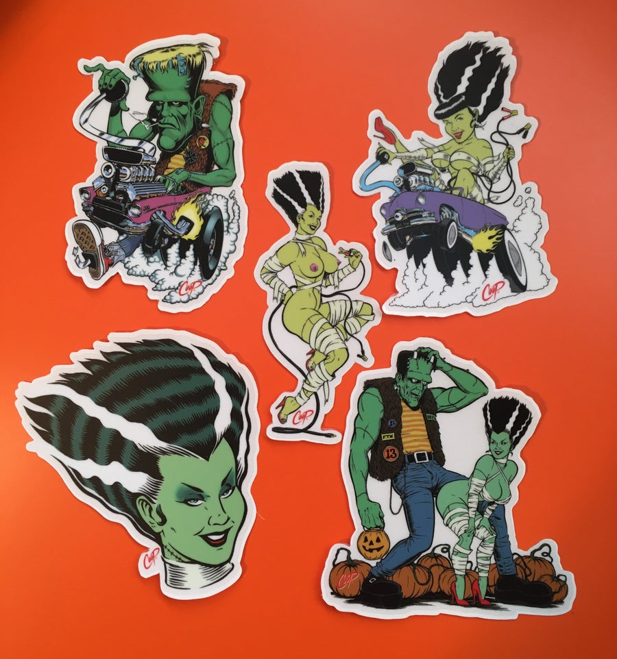 "Image of COOP Sticker Pack #9 ""Frankenstein & Bride"""