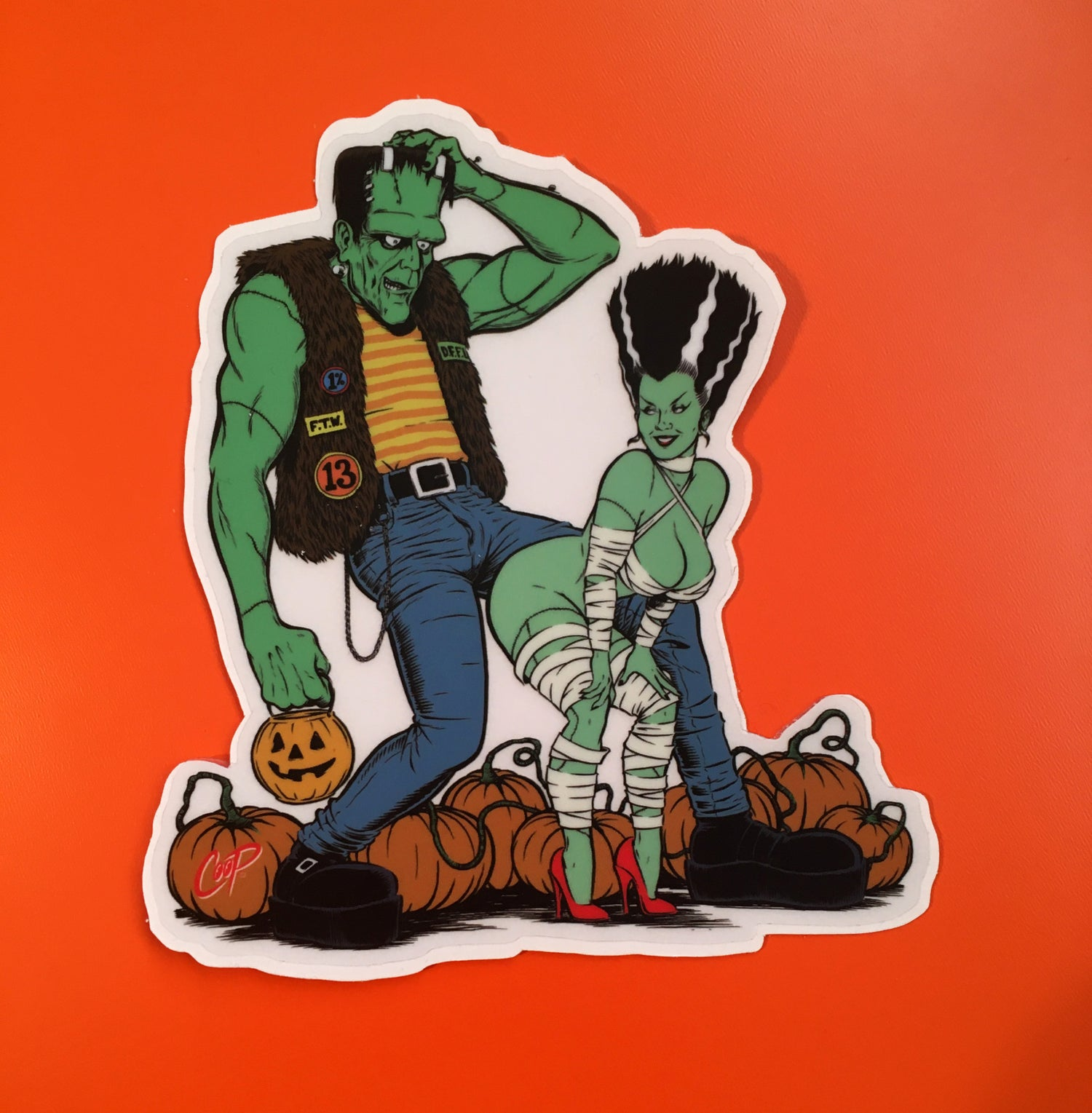 "Image of COOP Sticker Pack #9 ""Frankenstein & Bride"""