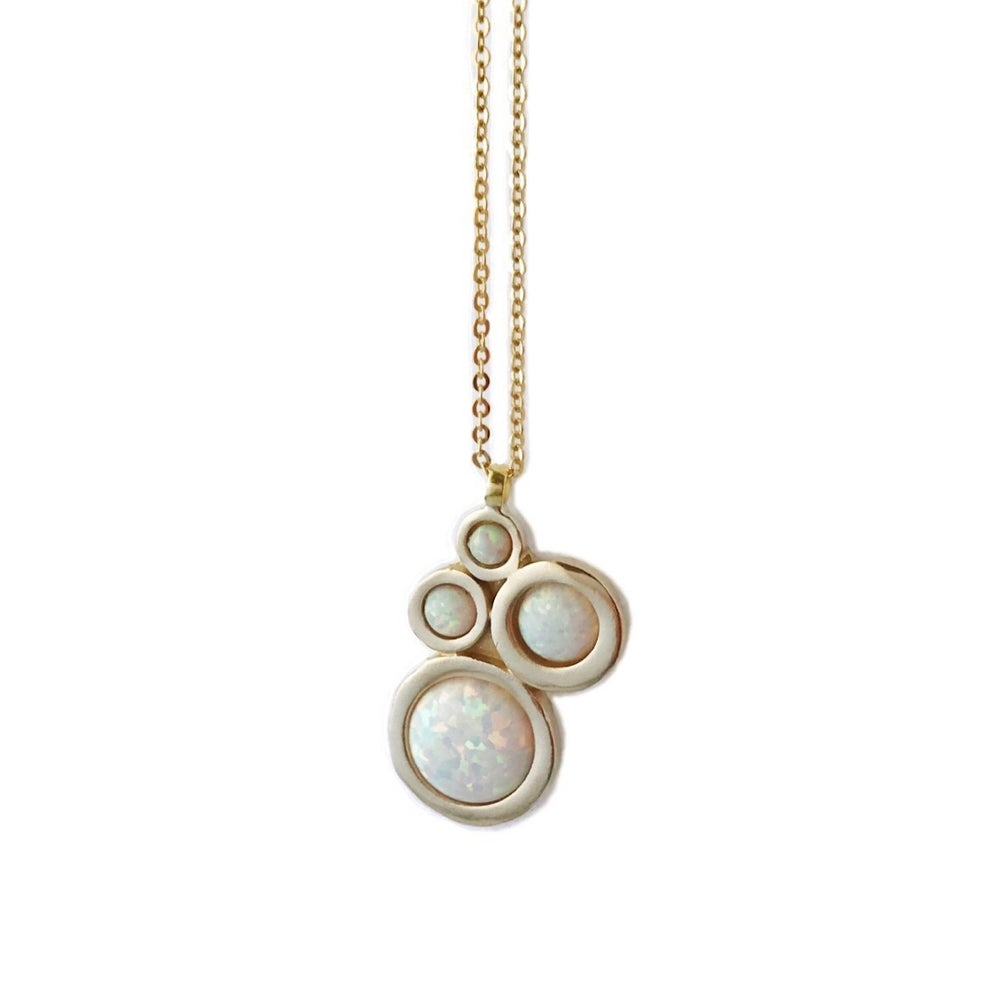 Image of Nebula Necklace with Opal