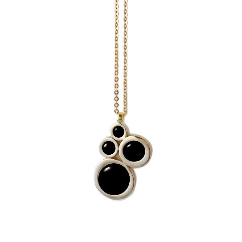 Image of Nebula Necklace with Black Onyx