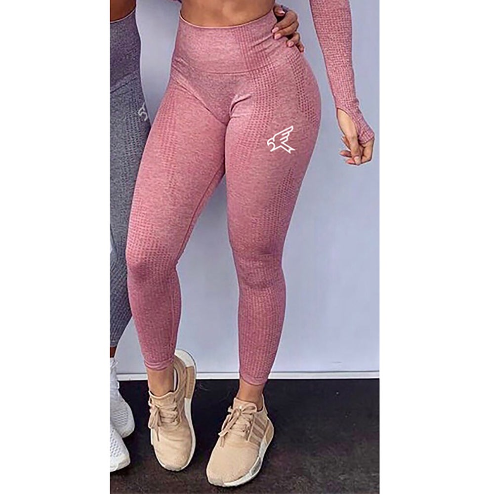 Image of Pink Seamless High Waisted Leggings