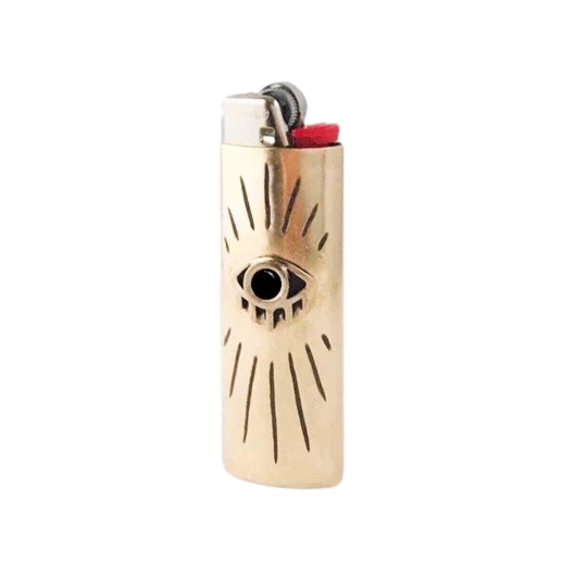 Image of Eye with Lashes Lighter Case with Black Onyx