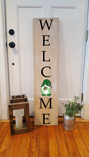Image of 12x48 Interchangeable Vertical Porch Sign
