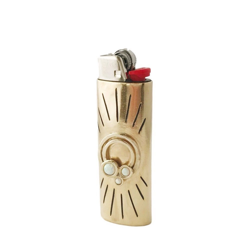 Image of Rainbow Lighter Case with Opal
