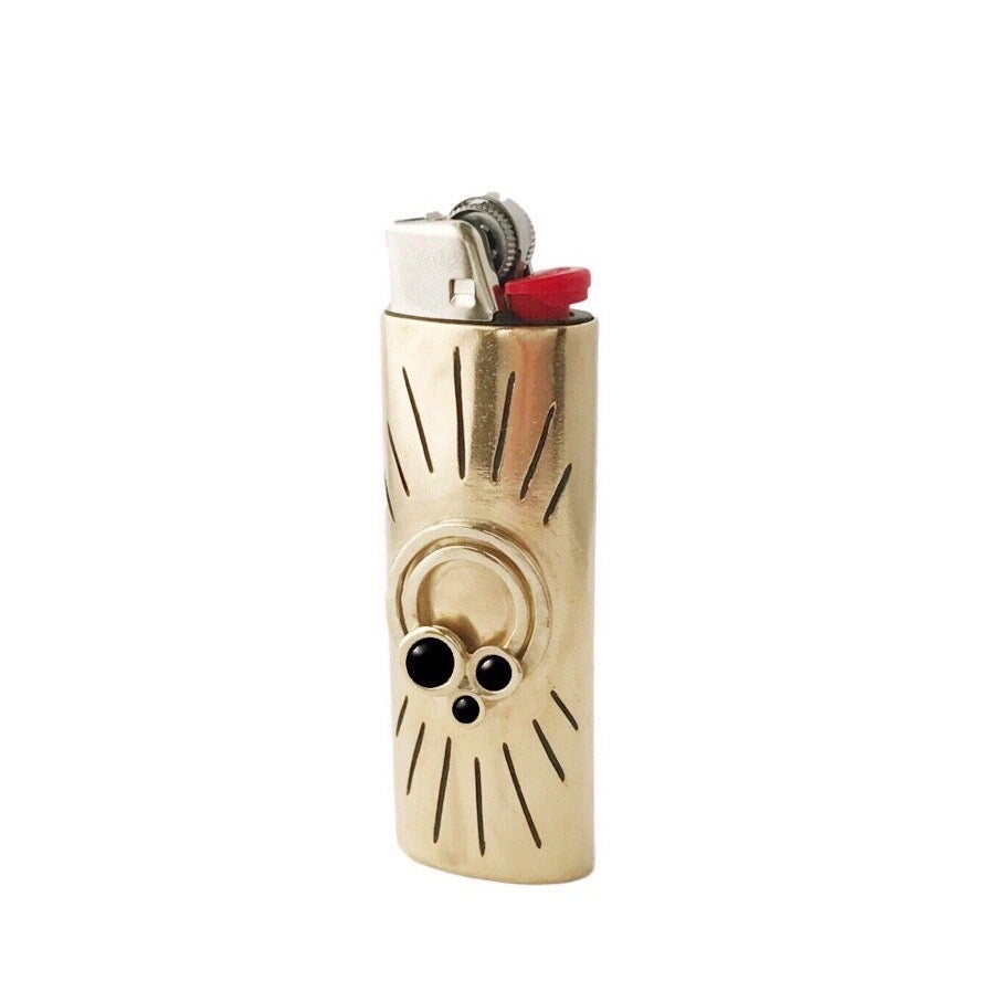 Image of Rainbow Lighter Case with Black Onyx