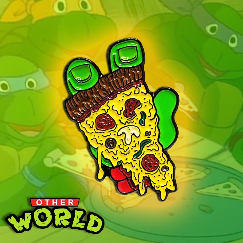 Image of Turtle Pizza pin