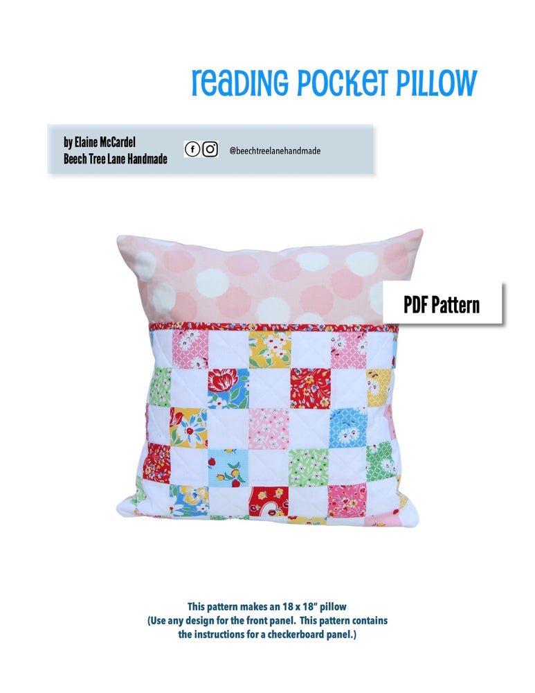Image of Reading Pocket Pillow PDF Pattern