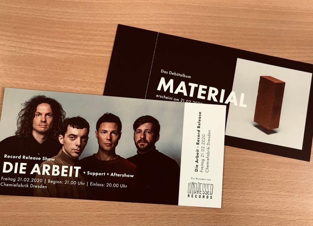 "Image of DIE ARBEIT - ""Material"" Record Release / Ticket 21.02.2020 Chemiefabrik Dresden"