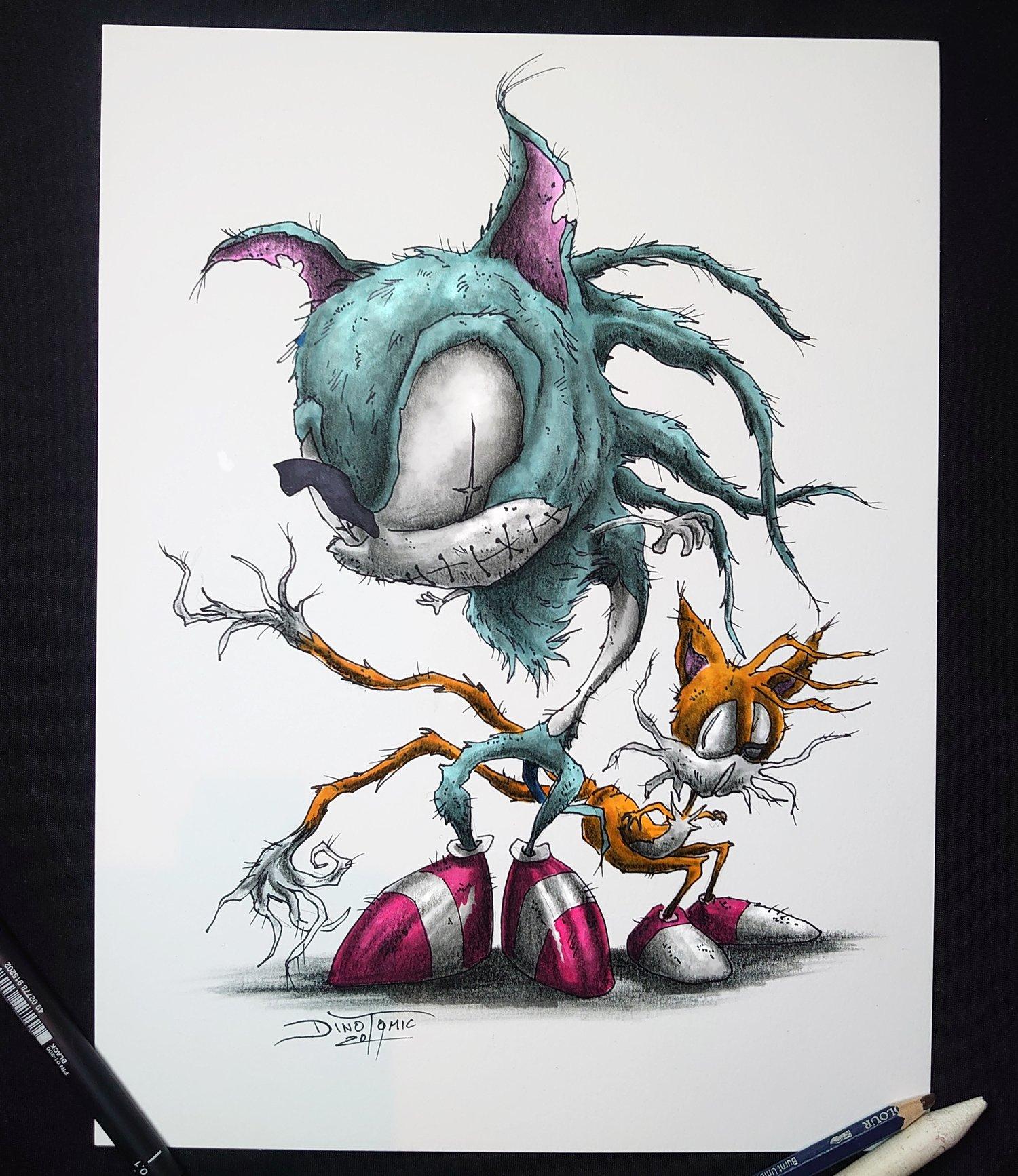 Image of #155 Sonic The Hedgehog Creepyfied