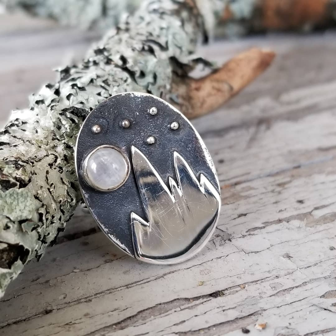 Image of Andes Ring - Moonstone in Sterling
