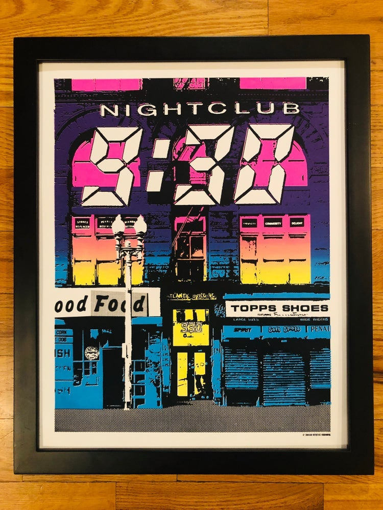 Image of Nightclub 9:30 Silk Screened Art Print Double Fade - BLEMISHED