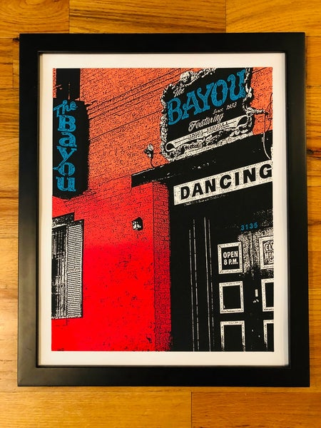 Image of The Bayou Silk Screened Art Print - BLEMISHED