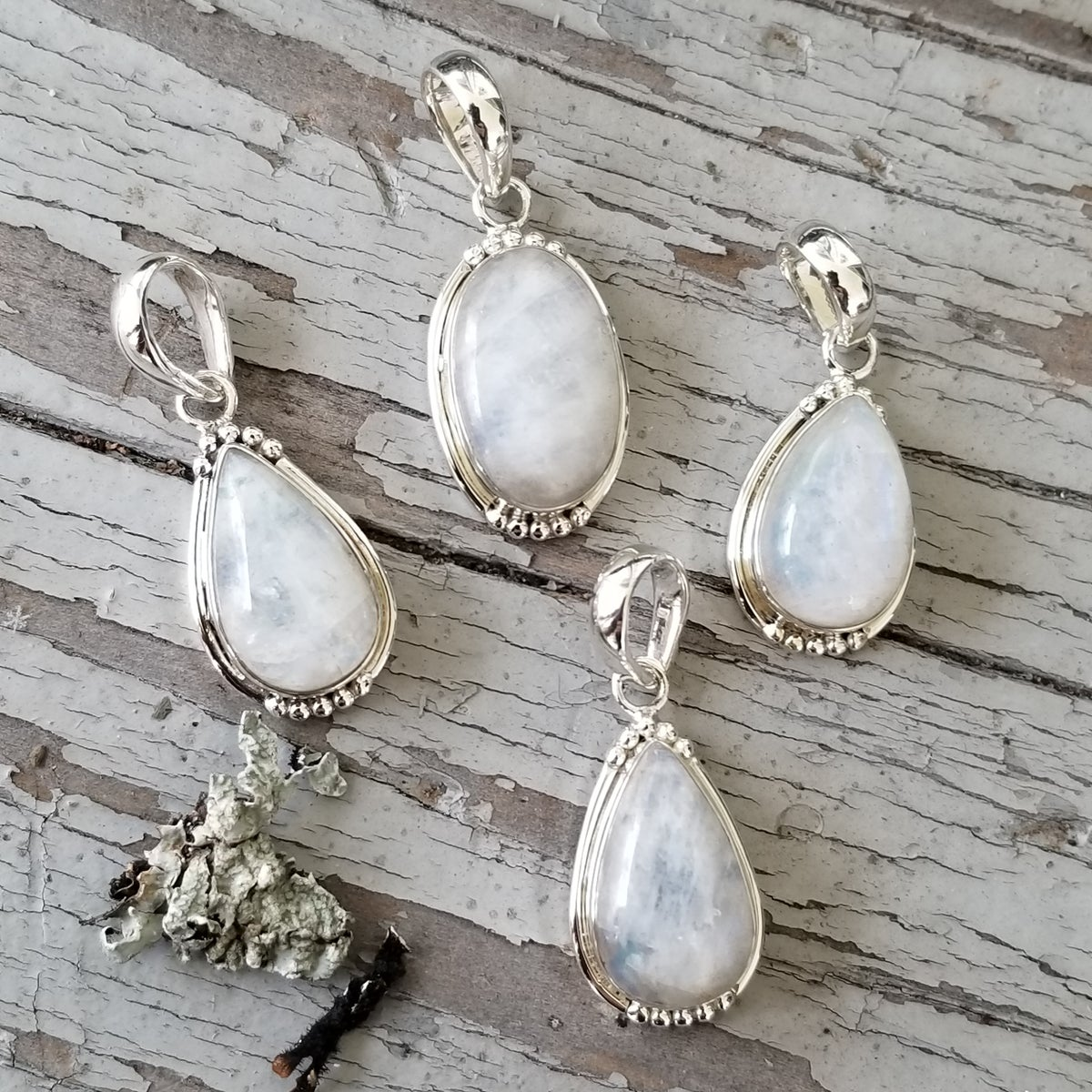 Image of Sweet Simplicity Pendants - Moonstone in Sterling