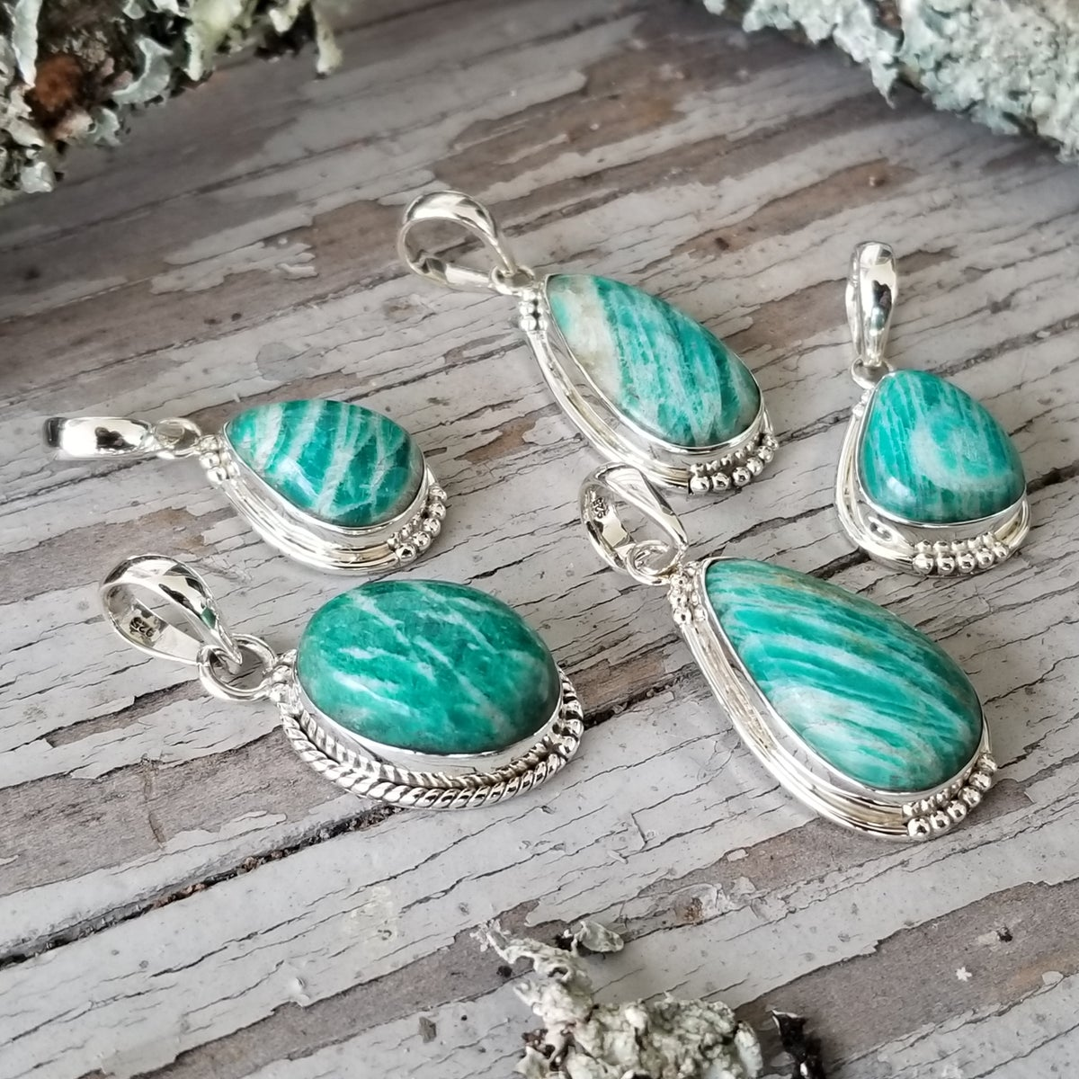 Image of Sweet Simplicity Pendants - Amazonite in Sterling