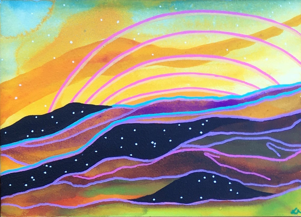 Image of Cosmic Mountain III (art card)