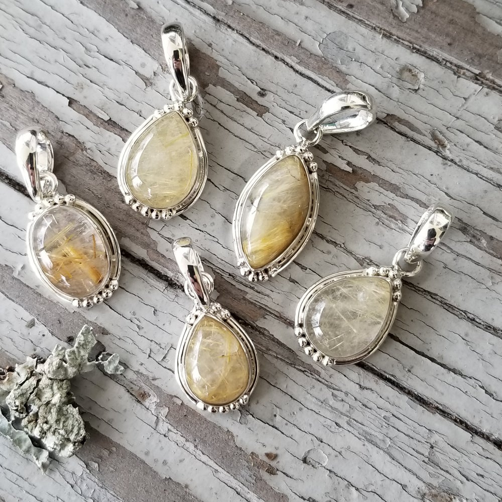 Image of Sweet Simplicity Pendants - Golden Rutile in Sterling