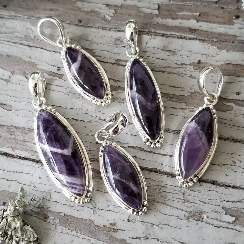 Image of Sweet Simplicity Pendants - Chevron Amethyst in Sterling