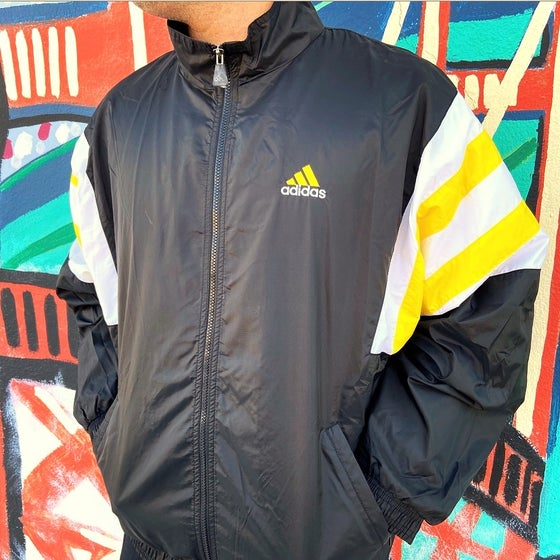 Image of Vintage 1990's Adidas Striped Sleeve Track Jacket Sz.L