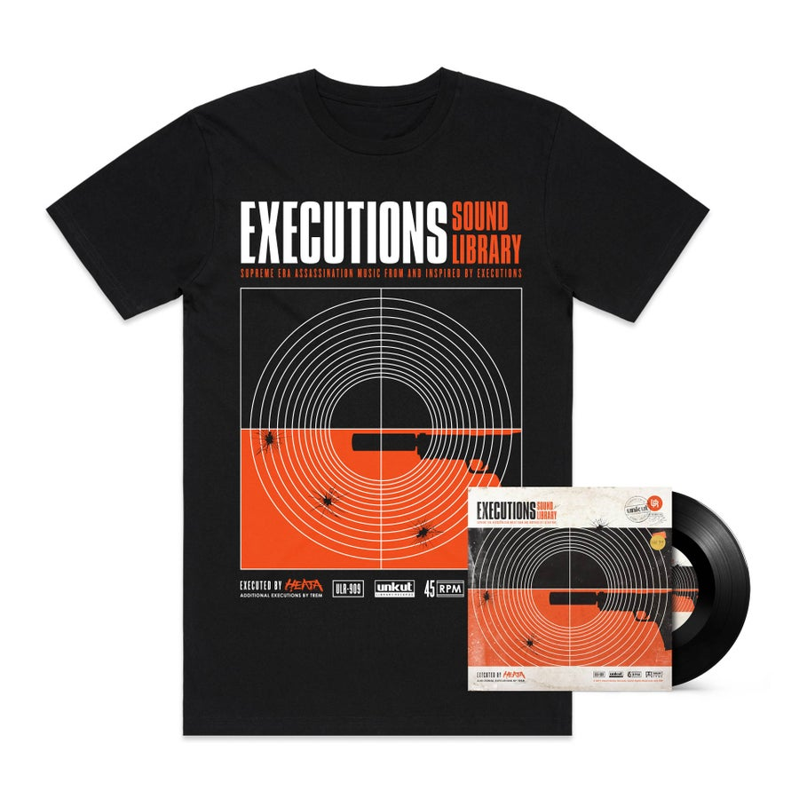 """Image of EXECUTIONS SOUND LIBRARY 7"""" & T-Shirt BUNDLE"""
