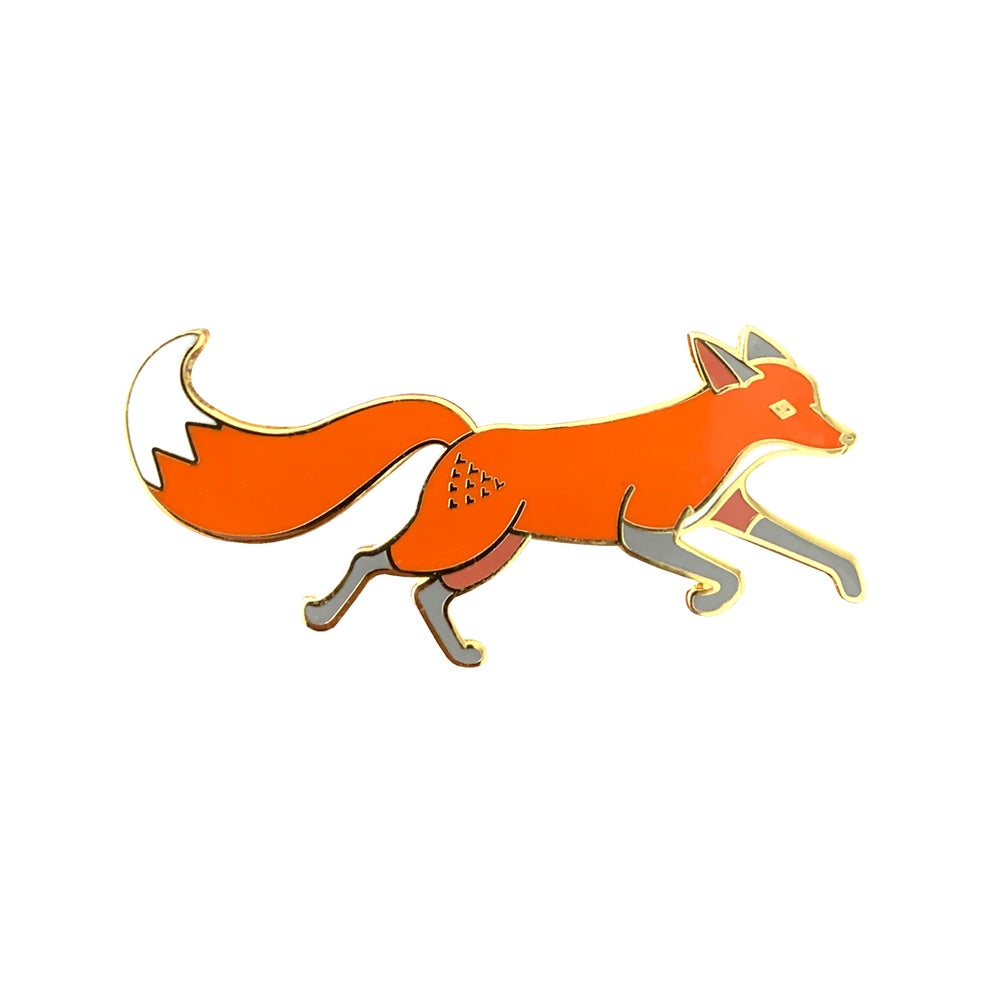 Image of Quinn the Fox Running Enamel Pin