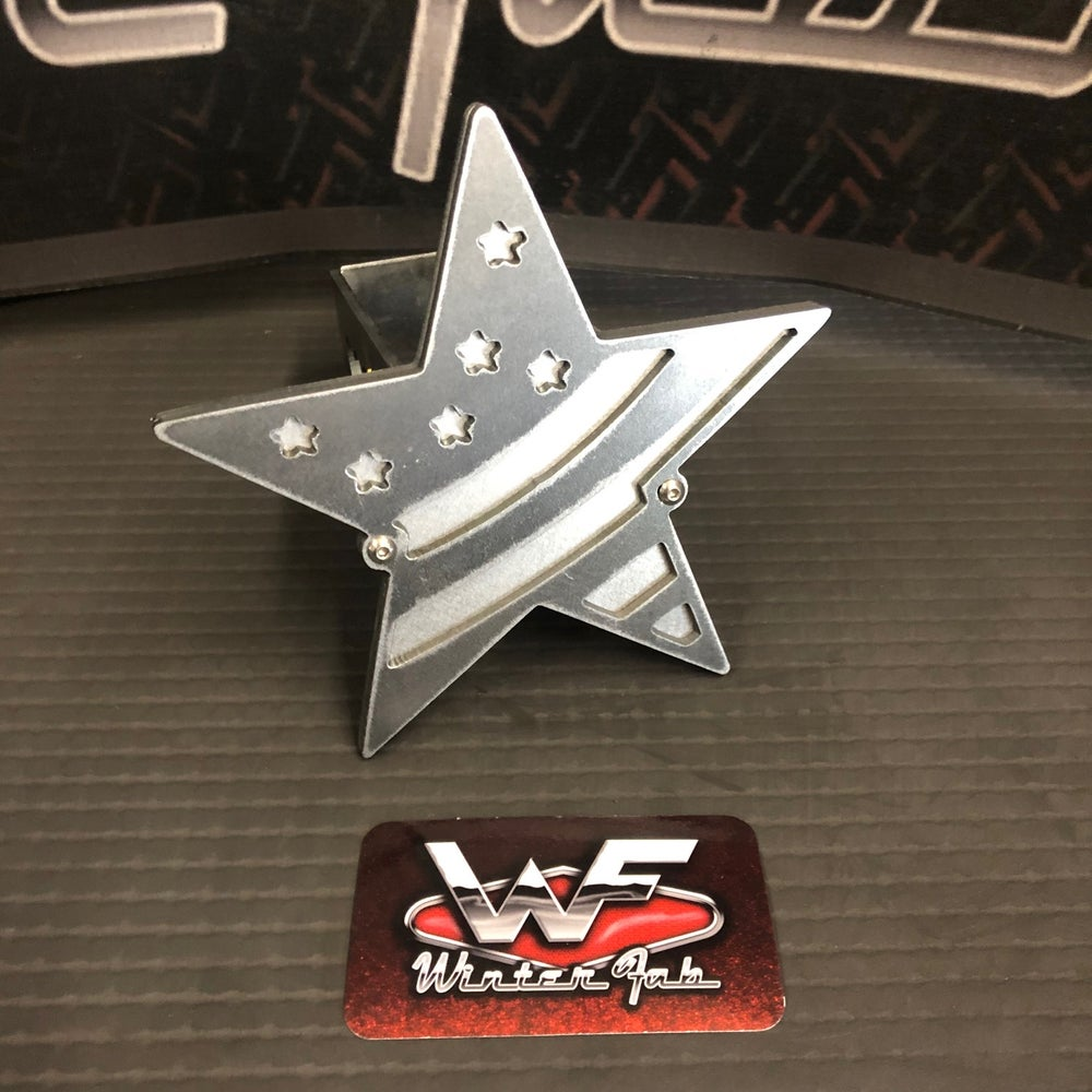 Image of Star with Flag Hitch Cover