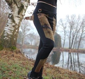 Image of KULTCHEN SCUBA SOFTSHELL BATIK STUDDED OUTDOOR LEGGINS