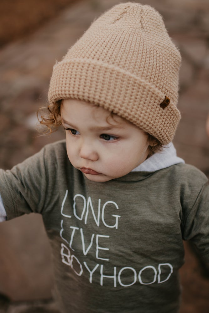 Image of LONG LIVE BOYHOOD TEE (OLIVE GREEN)