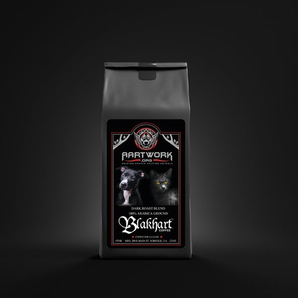 """Image of BLAKHART COFFEE™️ """"AARTWORK ORG"""" DARK ROAST TO SUPPORT ANIMAL RESCUE"""