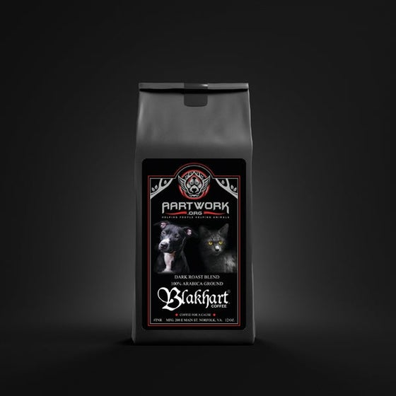 "Image of BLAKHART COFFEE™️ ""AARTWORK ORG"" DARK ROAST TO SUPPORT ANIMAL RESCUE"