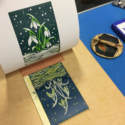 Image of One Day Intermediate Linocut Course