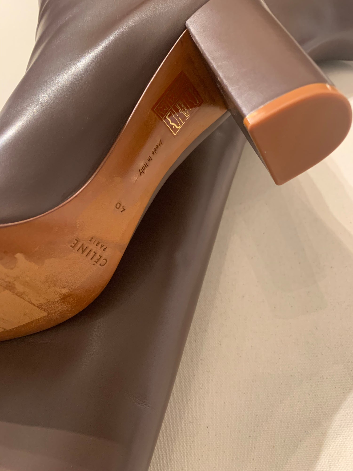 Image of CELINE LEATHER BOOT