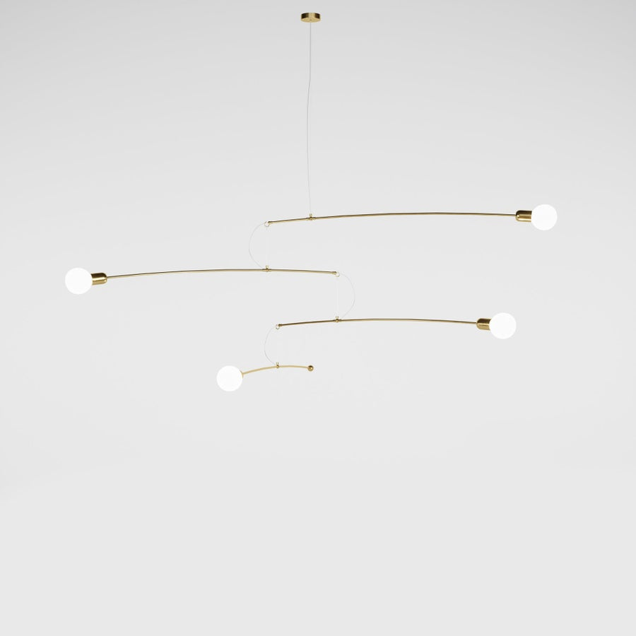 Image of Notos gold brass SMALL expo model