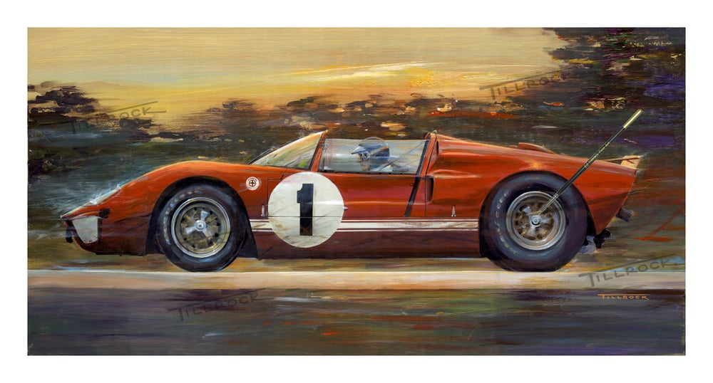 "Image of ""Big Ed"" X1 GT40 Roadster (14x24) or (22 x 40)  Signed & Numbered Giclee' Prints"