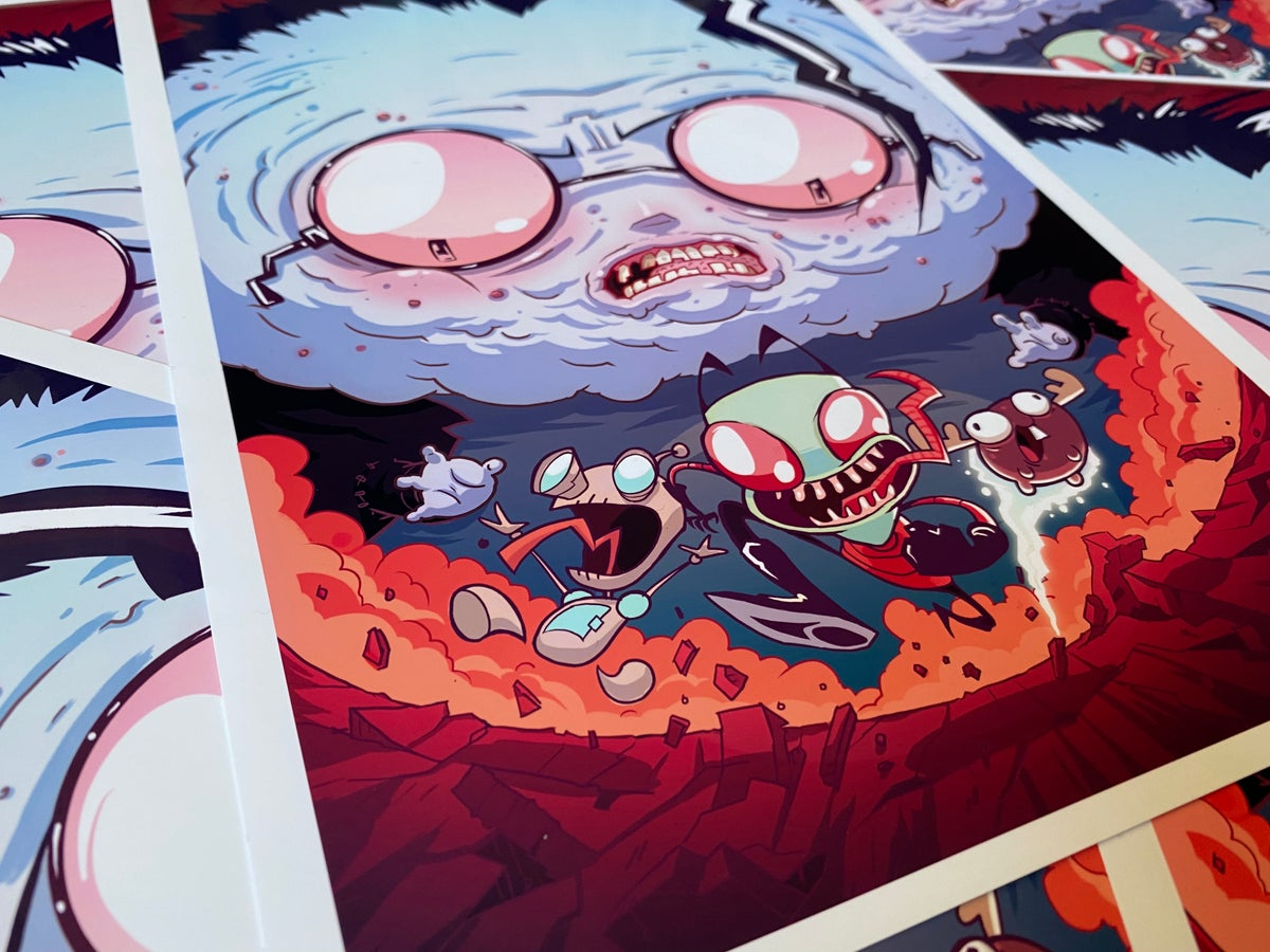 Image of INVADER ZIM Giant Dibface Print - Signed