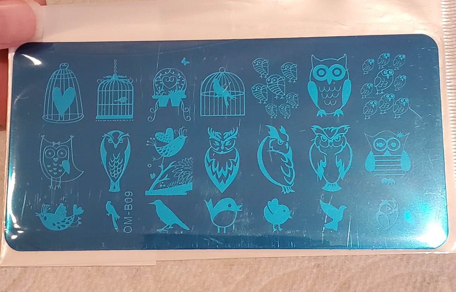 Image of Owl Stamping Plate