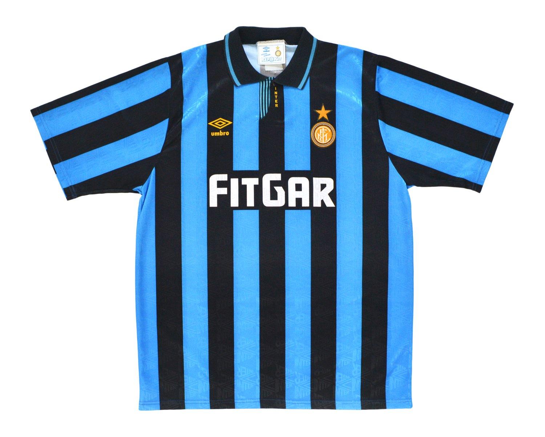 Image of 1991-92 Umbro Inter Milan Home Shirt '6' XL
